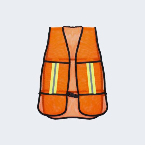 Chaleco de malla naranja